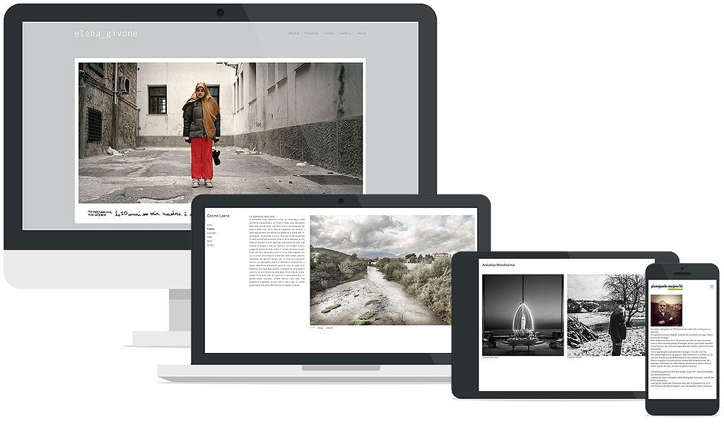 creare sito di fotografia / build photography website